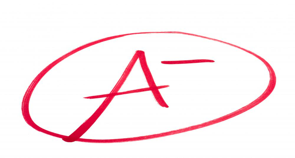 Some students view an a minus grade as a near miss from a perfect score.