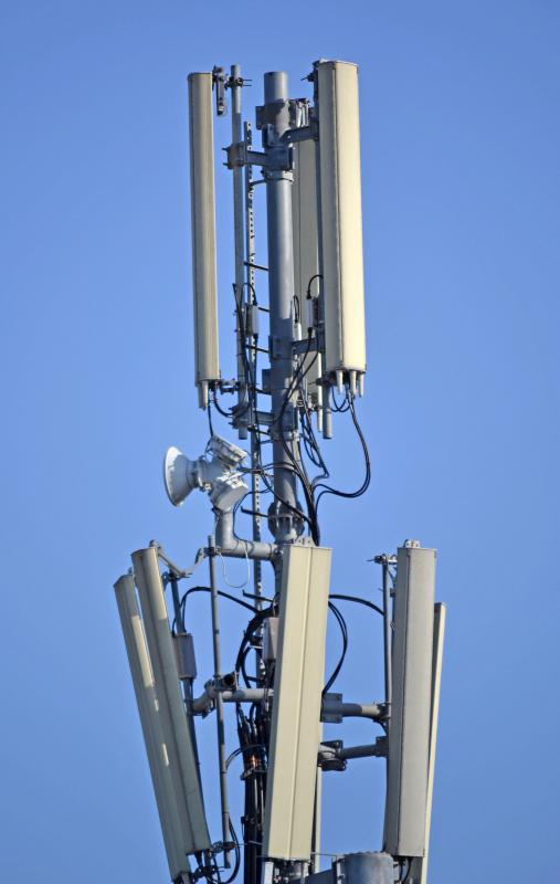 Cell phone service providers may employ or contract tower climbers to build and repair their masts.