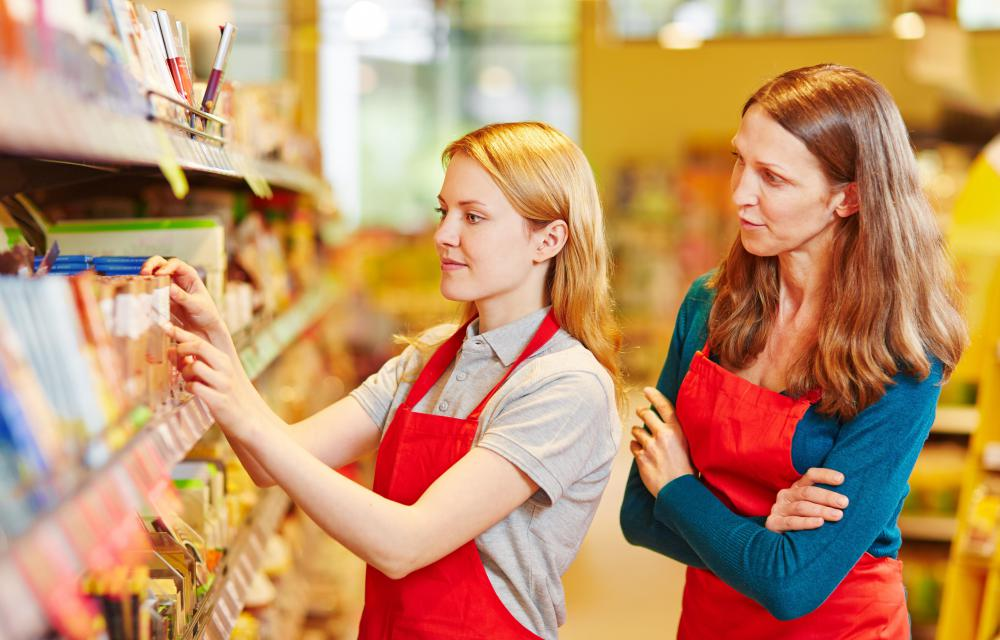 Stock clerks may be responsible for making sure items are properly marked.