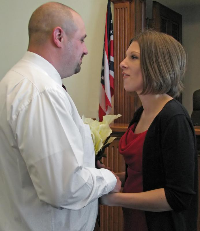 Local magistrates and judges conduct civil marriages as part of their duties as civil officers.