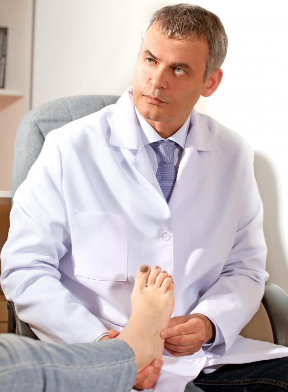 Podiatrists deal with painful foot irritations, including corns and bunions.