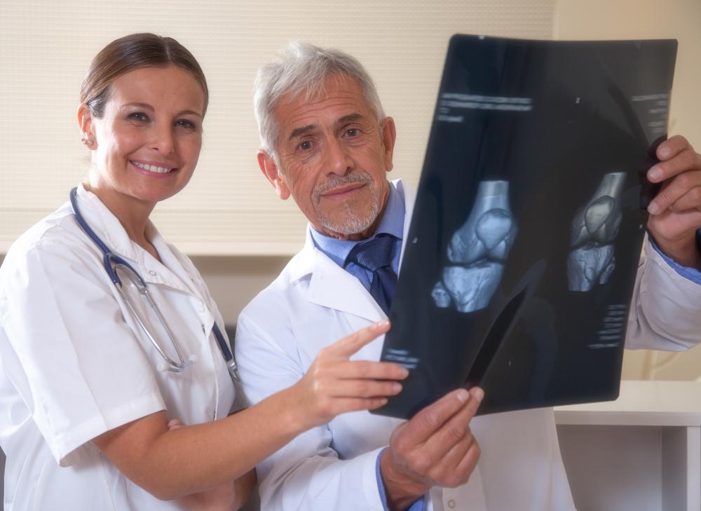 An orthopedist may correct problems involving the bones in the knee joint.