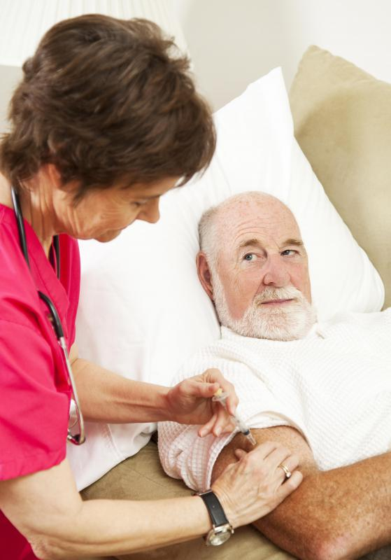 A home health nurse is responsible for providing medical care to patients in their home environment.