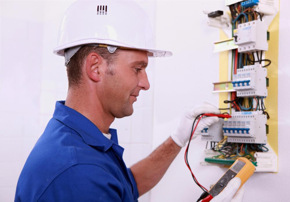Some field technicians provide electrical service repair.