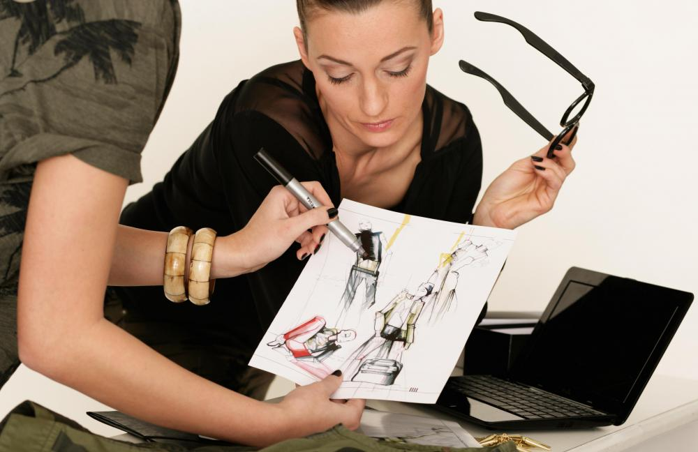 Fashion designers may work with private clients to create individual looks.