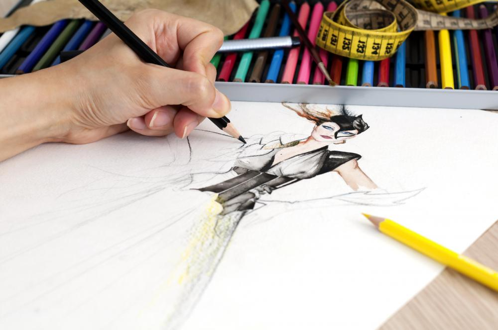 Sketching remains an important skill for fashion designers.