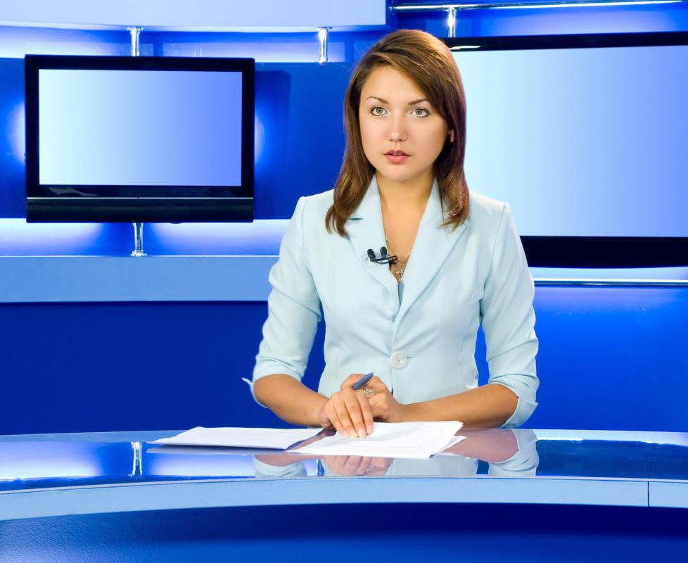 Television news reports are approved by a news editor.