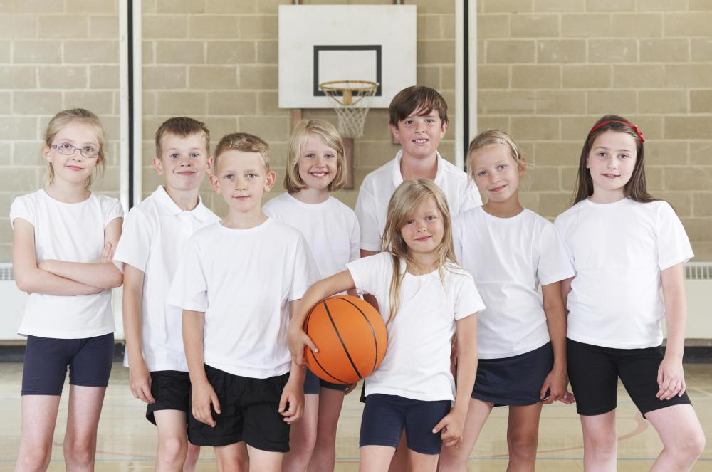 Physical education classes are often a part of the core curriculum in elementary and middle schools.