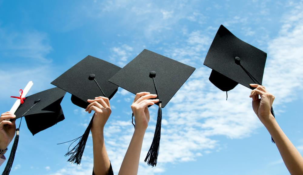 Graduates receive bachelor's degrees after completing a specific number of accredited classes.
