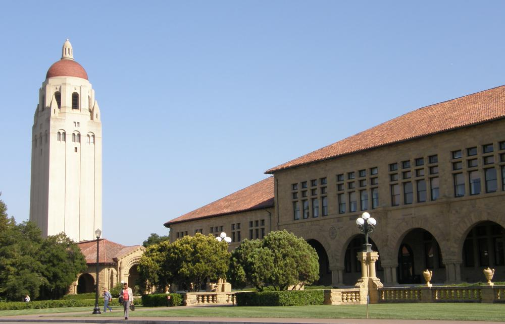 Hoover Tower at Stanford University, a private research university.