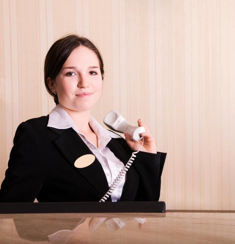 A hotel front office manager ensures front desk operations are running smoothly.