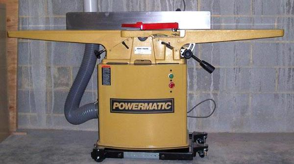 A jointer, which is used in woodworking. Woodworking is often taught in shop class.