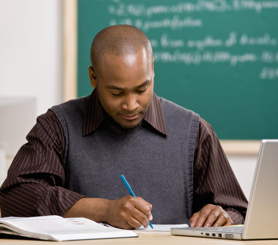 College professors spend significant time outside of the classroom grading assignments.