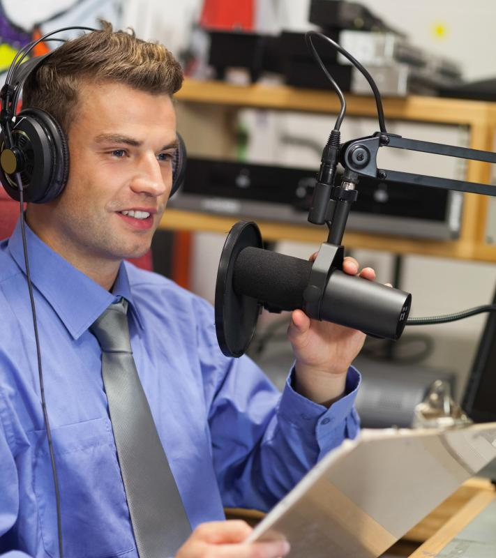 Aspiring journalists may gain experience working at a radio station.