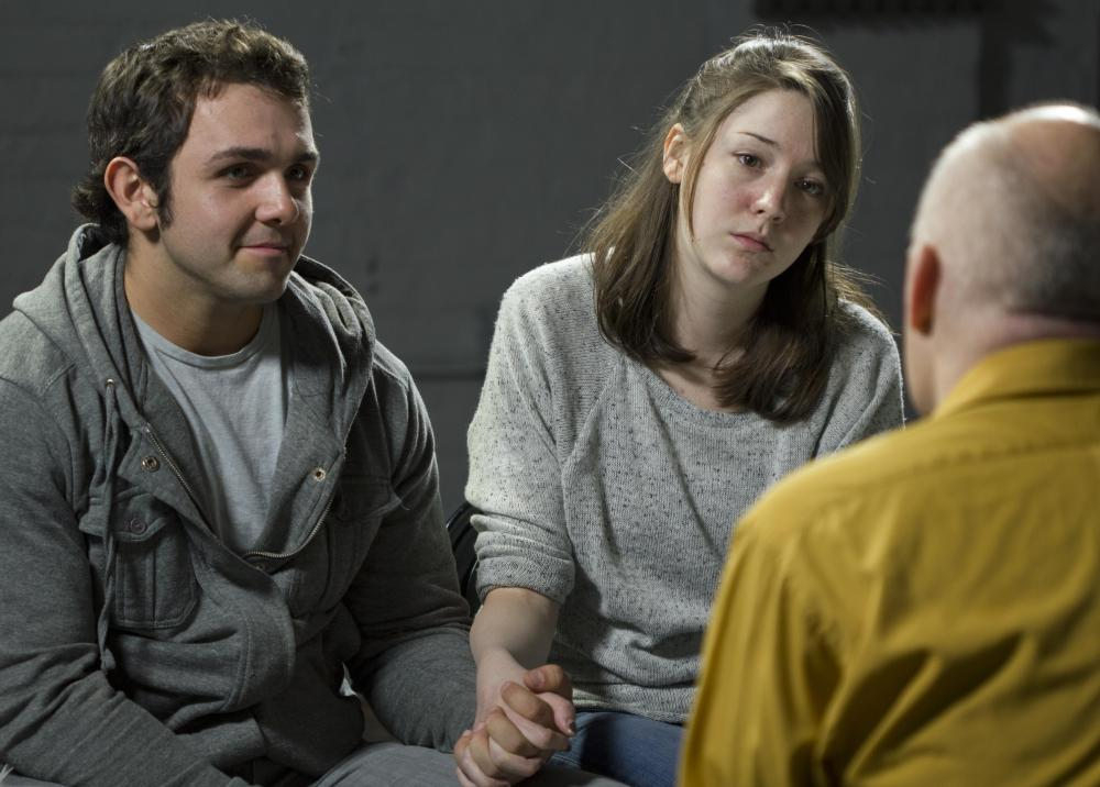 An EAP counselor might be called upon to help a couple in a troubled relationship.