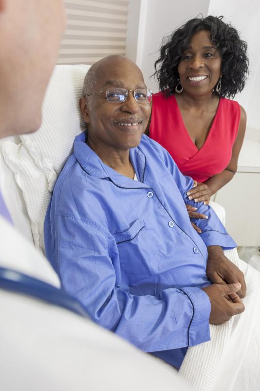 Some medical internists specialize in working with elderly patients and their caregivers.