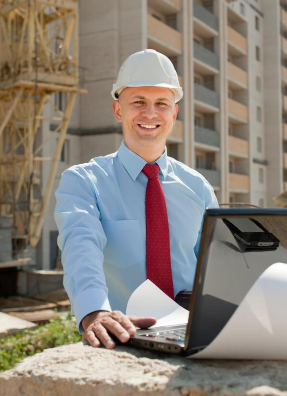It is common for a construction engineer to work on-site throughout the building phase.