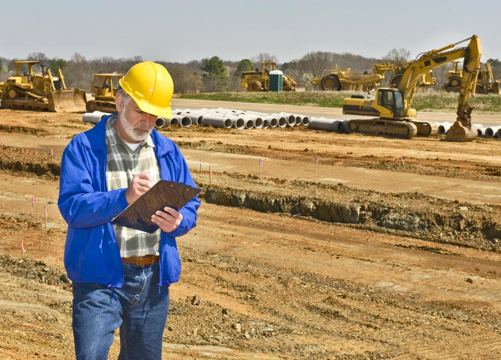 An engineering firm may be hired by a construction company to modify a parcel of land.