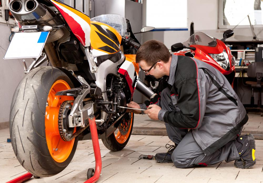 Motorcycle repair might be taught at a vocational school.