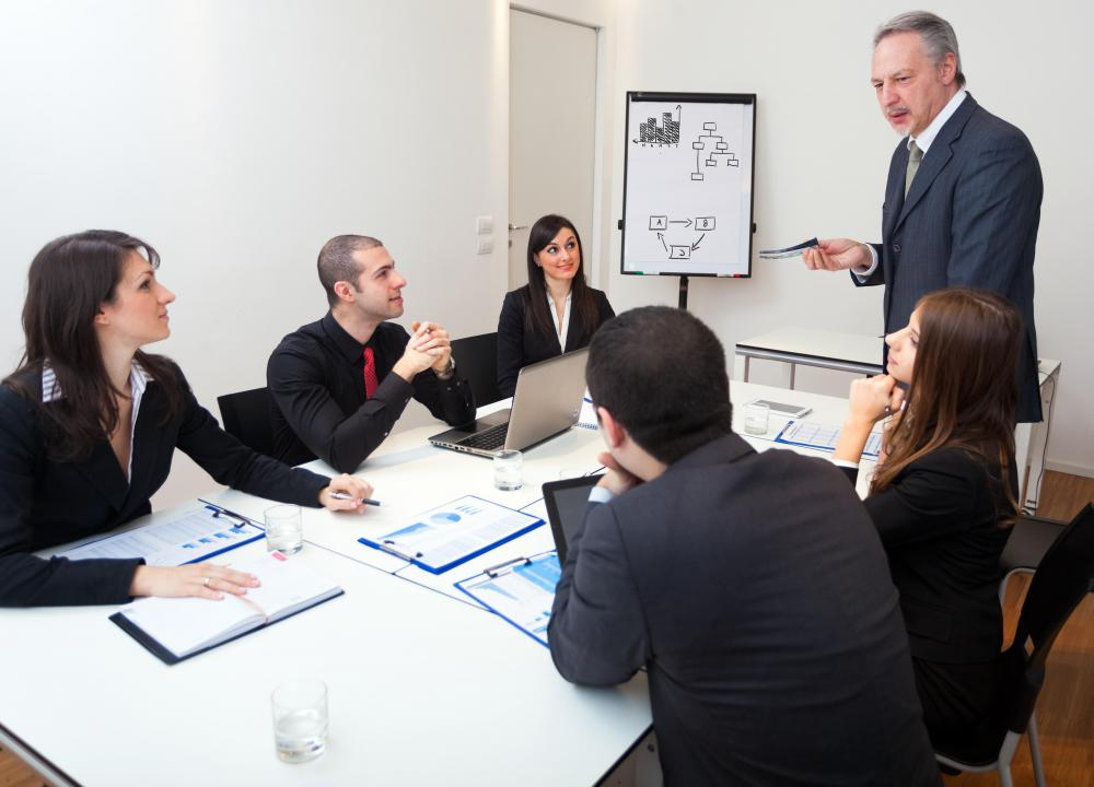 A chief operating officer may attend executive meetings to discuss policies with other company heads.