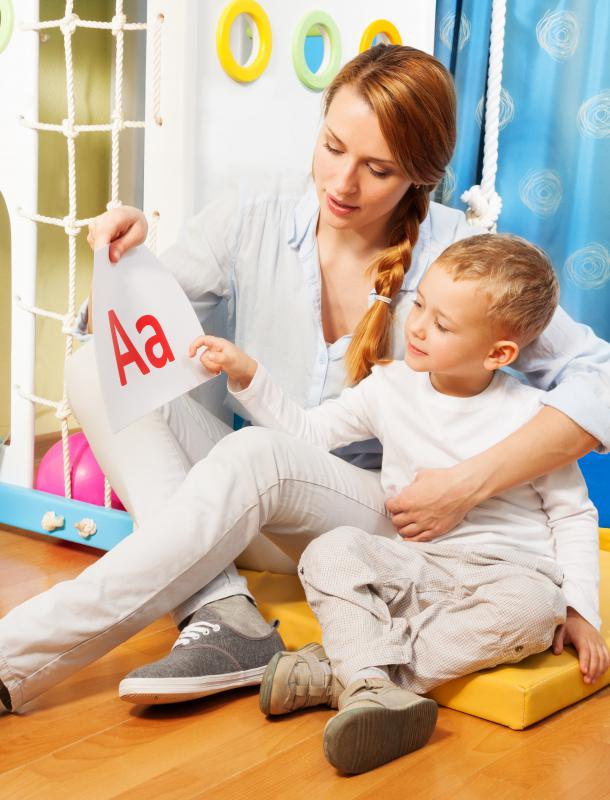 Young children commonly learn the alphabet through rote learning.