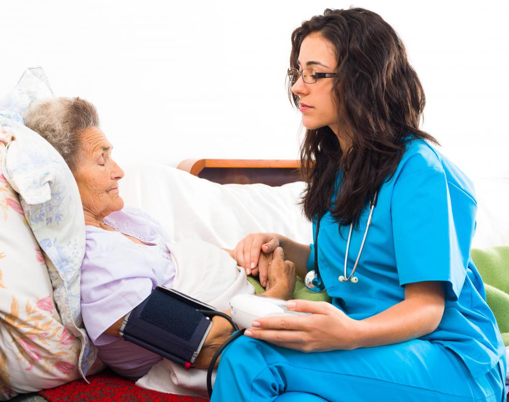 A nurse working in holistic medicine cares for a patient's mind, body, and spirit.