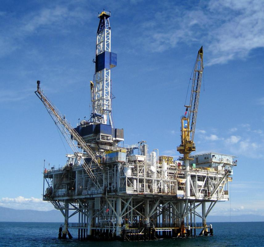 Some hydraulic engineers work on oil platforms.