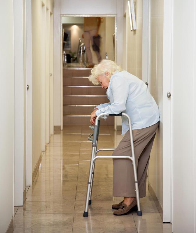 After orthopedic surgery, a patient may be required to use a walker while rehabilitating.