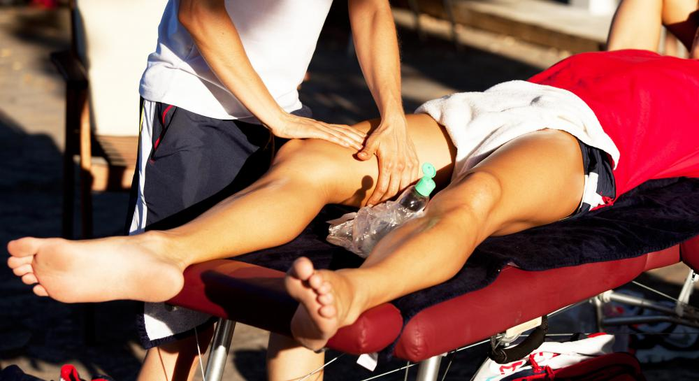 Some sports physiologists use massage and other hands-on techniques to help athletes recover from injuries.