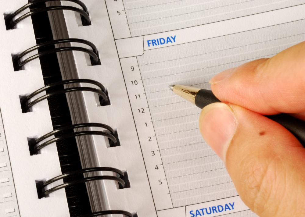 Operations clerks may be responsible for maintaining a schedule.