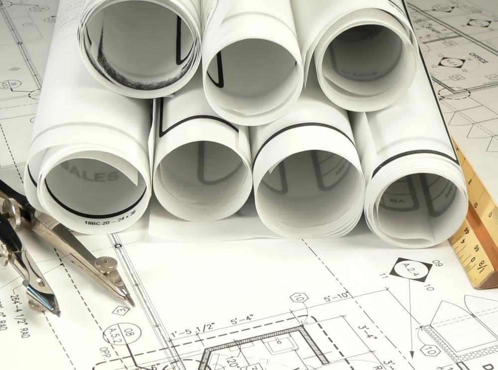 After an architect designs a building, a structural engineer will examine blueprints and specifications to be sure the structure can withstand stresses.