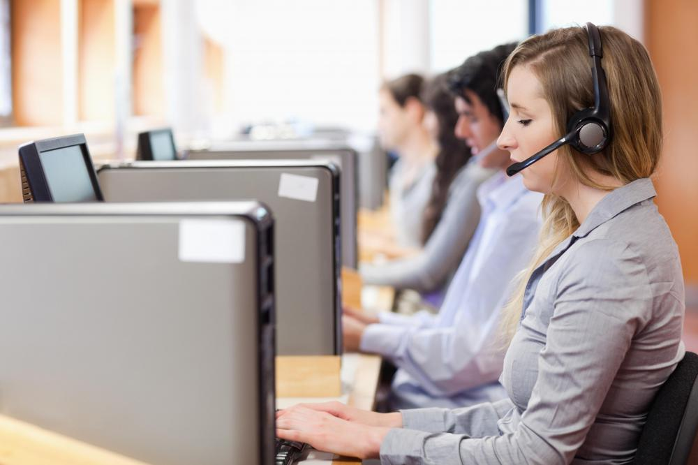 Sales representatives may work from a call center.