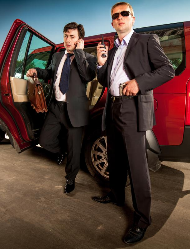 A bodyguard is responsible for ensuring the personal safety of individuals.