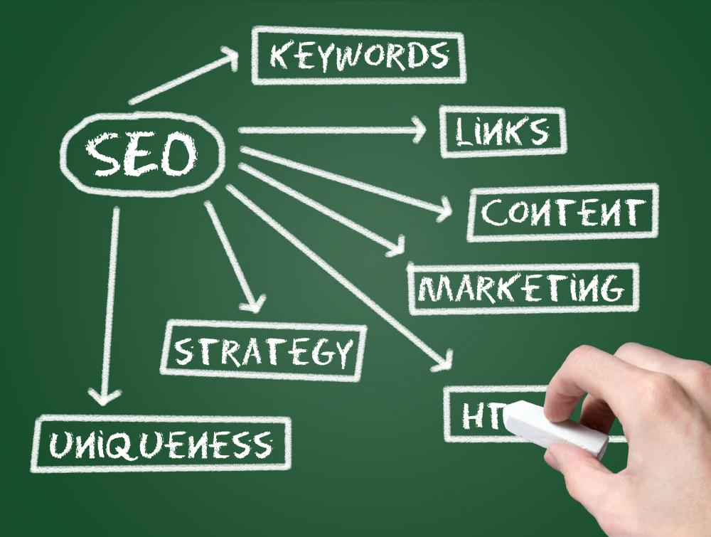 Online marketing specialists work to develop a website's search engine optimization.