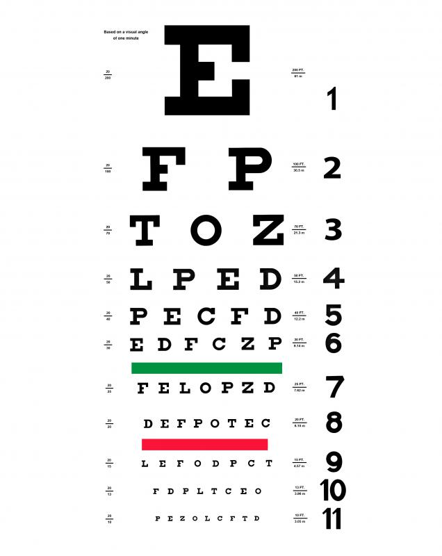 Vision testing is part of the DMV exam process.