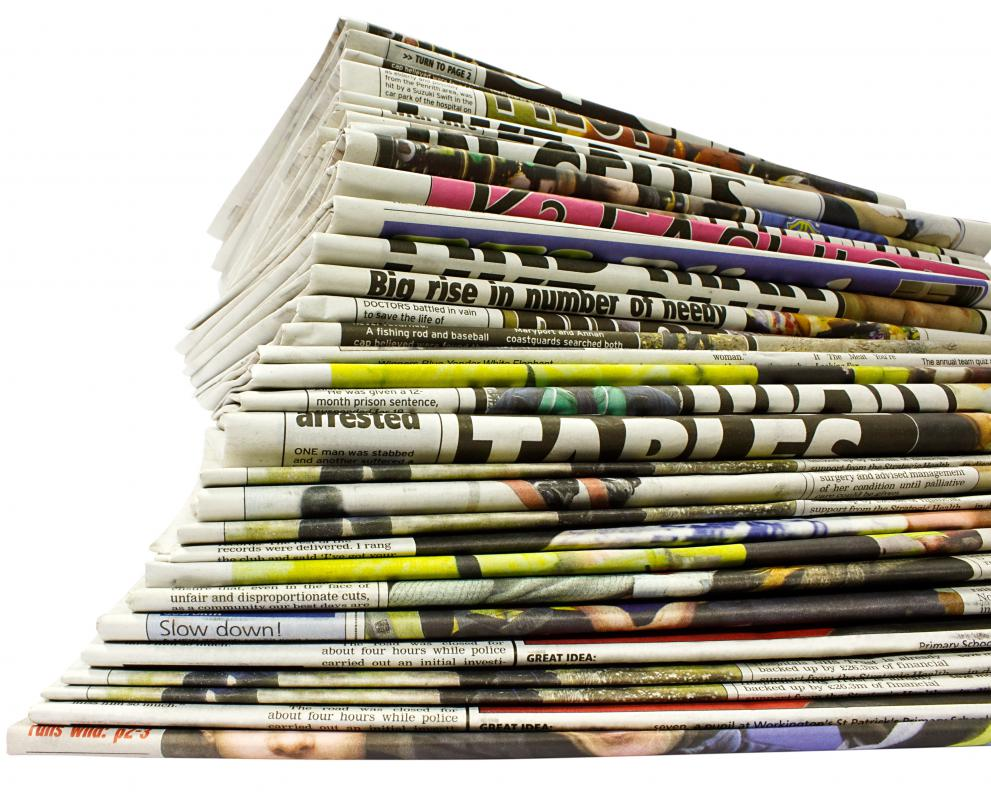 Newspapers have a variety of positions for writers, editors and graphic designers.