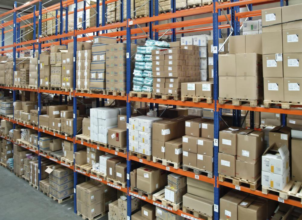 A stock clerk is responsible for keeping track of a company's inventory.