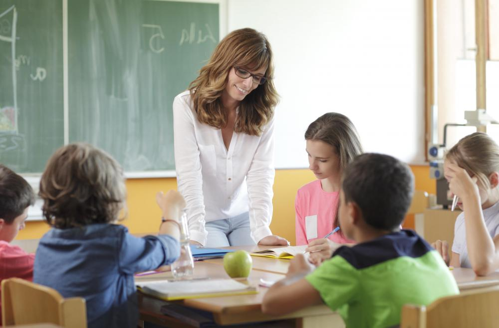 Overseeing a group project can be part of classroom management.