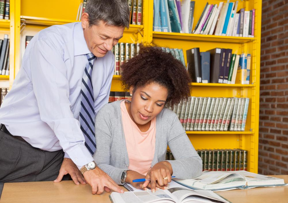College professors may work one-on-one with students as an advisor.