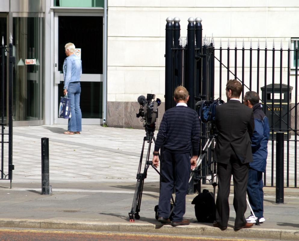 Journalists cover a range of local news stories, such as trials and meetings.