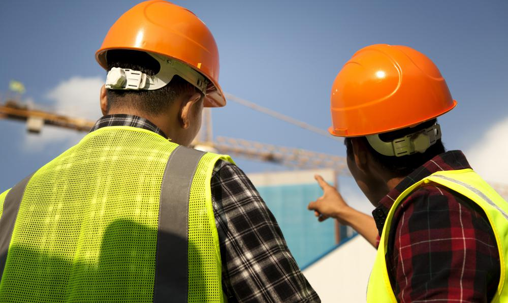 It is common for construction engineers to work on-site throughout the building phase.