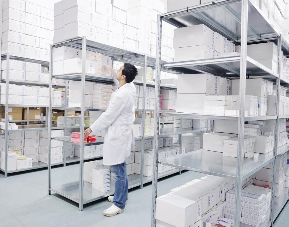 Materials management at a university includes inventory and ordering of lab supplies.