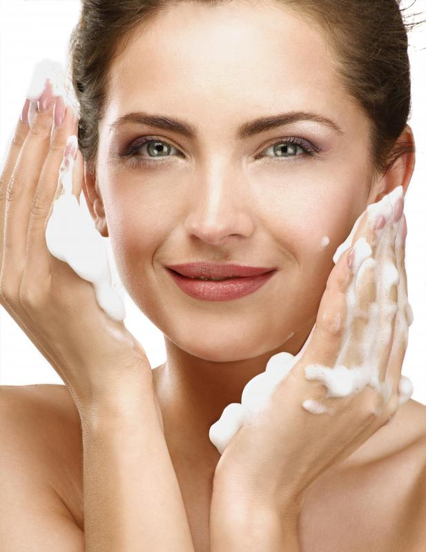An esthetician may recommend, and in some cases sell, facial cleanser and other skin care products for a client's specific skin type.