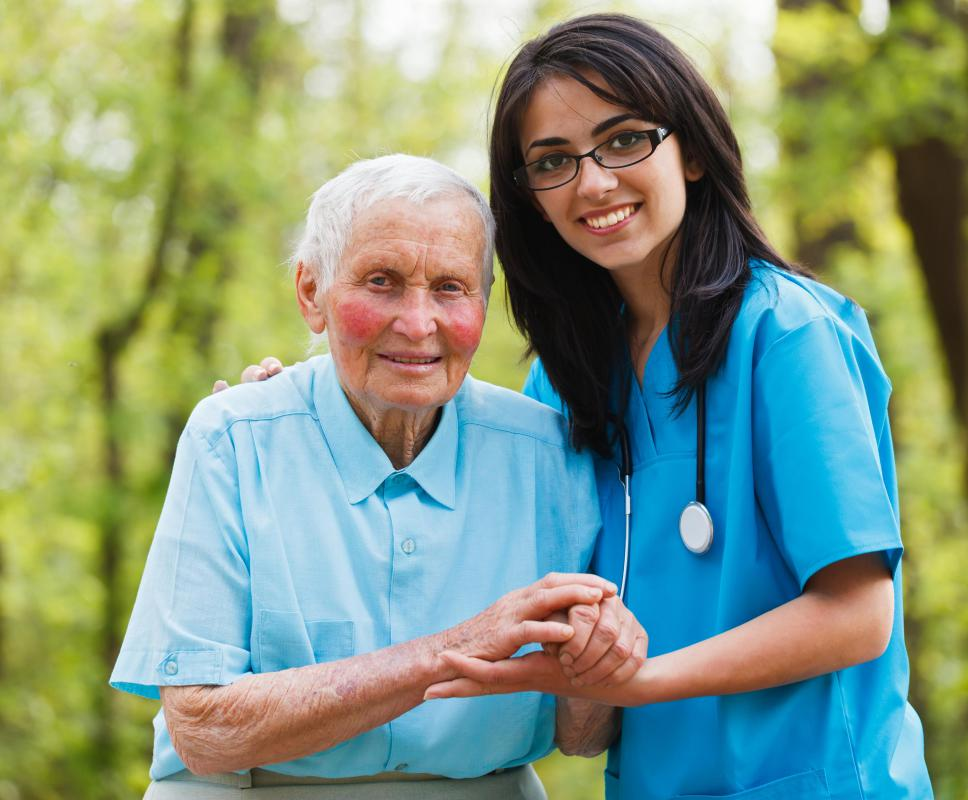 Service workers may have a job helping residents at a nursing home.