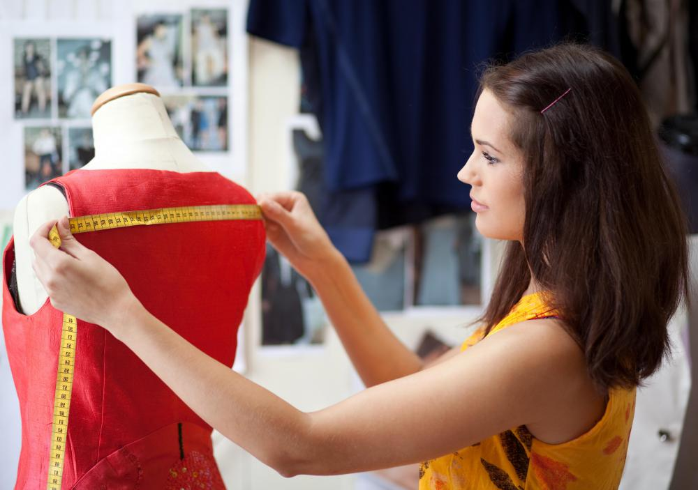 Fashion designers begin their work by stitching together a basic prototype.
