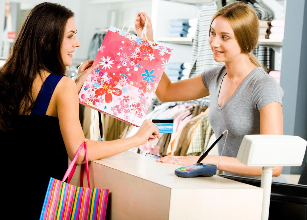 Sales representatives may work in retail stores.